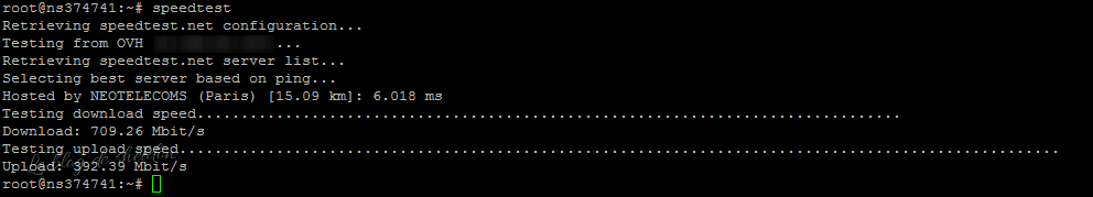 Speedtest SSH debian Linux ubuntu
