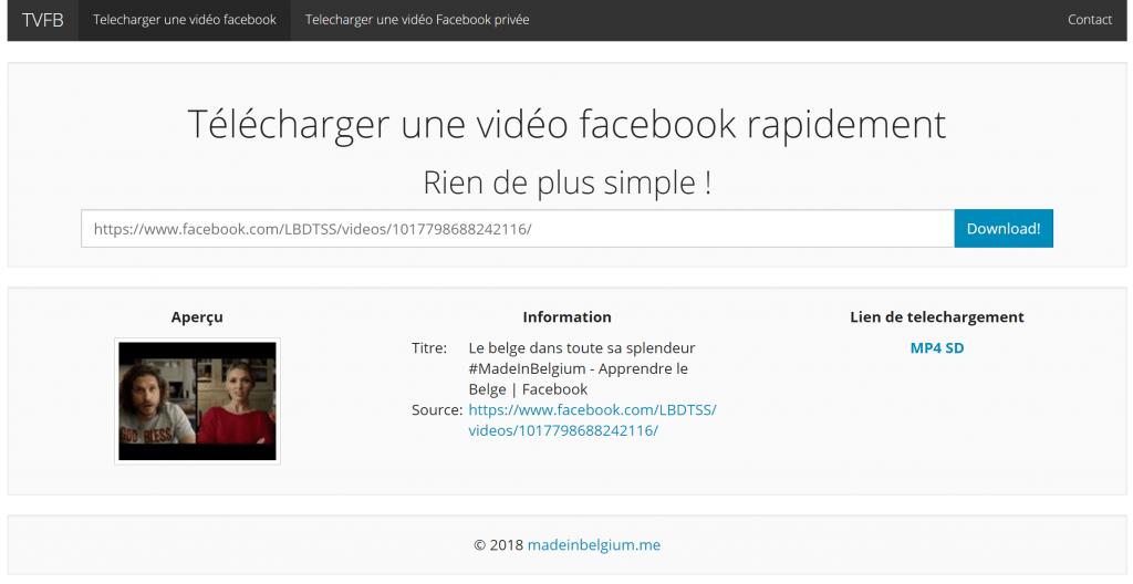 Mise en place d'un script permettant de télécharger les vidéos Facebook sans limite